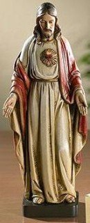 "8"" Sacred Heart of Jesus Christ Statue Toscana Milagros Avalon Gallery Collection Figure God"