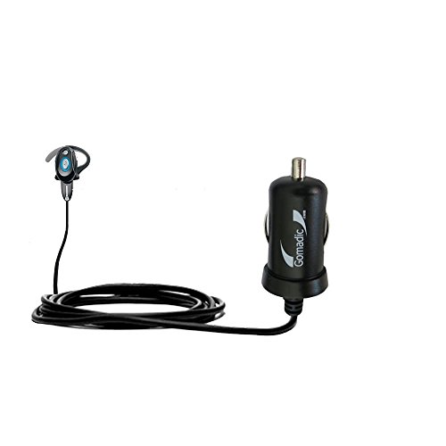 Gomadic Intelligent Compact Car / Auto DC Charger suitable for the Motorola H700 - 2A / 10W power at half the size. Uses Gomadic TipExchange Technology