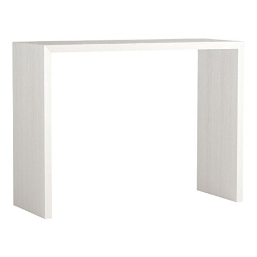 arne カウンターテーブル バーテーブル セミオーダー 日本製 幅125cm 奥行45cm 高さ90cm コンソールテーブル 机 テーブル 木製 Zero-X 12545HH ホワイトウッド B079KYZPHD 幅125×奥行45,ホワイトウッド