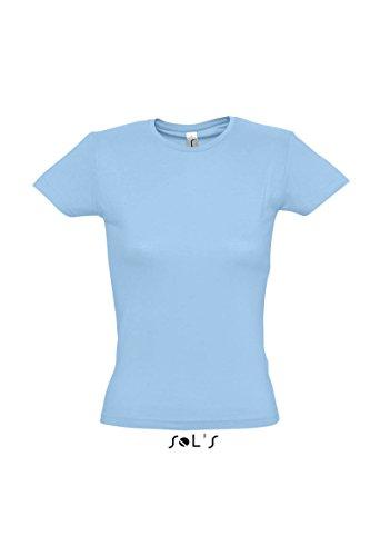 SOL´S Ladies T-Shirt Miss, Größe:M, Farbe:Sky Blue