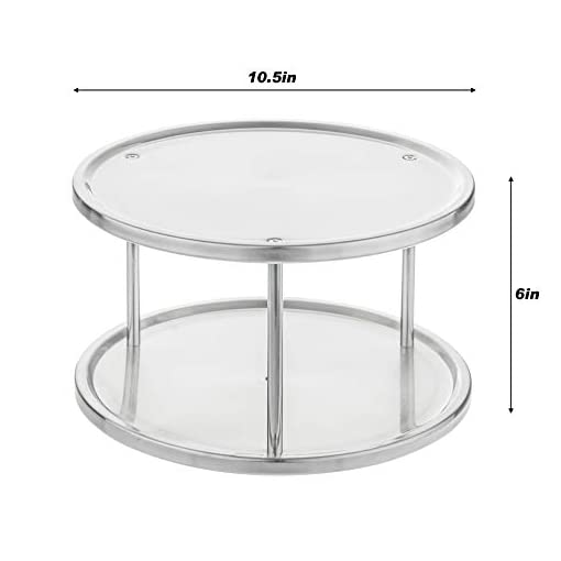 Kitchen Simpli-Magic Lazy Susan, 2-Tier, Brushed Stainless Steel lazy susans