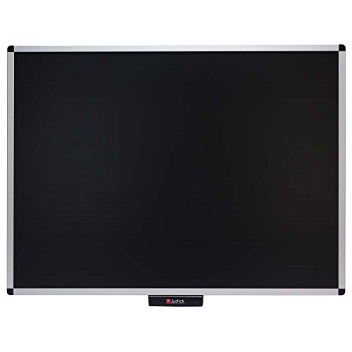 Justick by Smead, Premium Aluminum Frame Bulletin Board, 48''W x 36''H, with Electro Surface Technology, Black (02563) by Smead