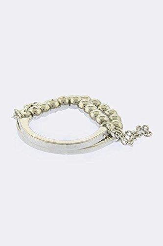 Judith Ripka Gemstone Ring (KARMAS CANVAS ROUND BEAD RING (Silver))