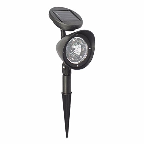 elecfan Waterproof Solar Lights, Outdoor Spotlight Bright Solar Garden Lamp, Security Lighting, Adjustable Wall Light, Landscape Solar LED Light Auto On/Off for Yard Garden Patio Driveway Pathway Pool