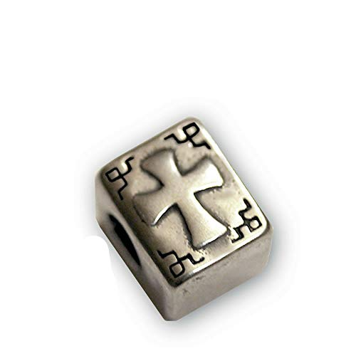 Sexy Sparkles Stainless Steel Holy Bible Cross Book Religious Charm Spacer Bead Jewelry Making Supply Pendant Bracelet DIY Crafting by Easy to be happy!