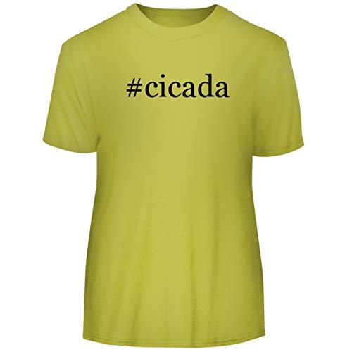 One Legging it Around #cicada - Hashtag Men's Funny Soft Adult Tee T-Shirt, Yellow, XX-Large ()