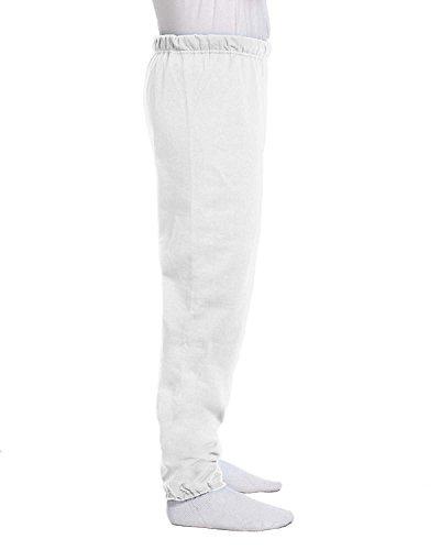 (Jerzees 8 oz, 50/50 NuBlend Fleece Sweatpants, Small, White)