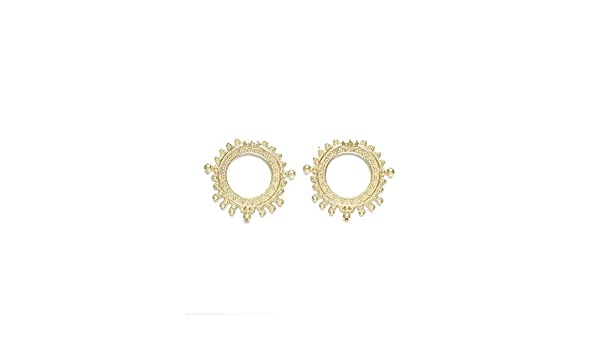 Diva Walk Gold-Toned Peacock Shaped Studs-Onesize-Gold