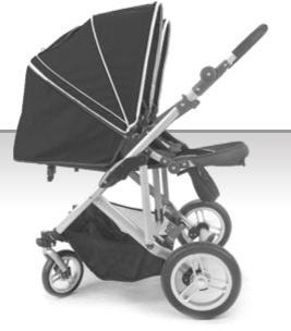Stroll-Air DUO 4 Wheel Double Twin Baby Stroller (Black), Baby & Kids Zone