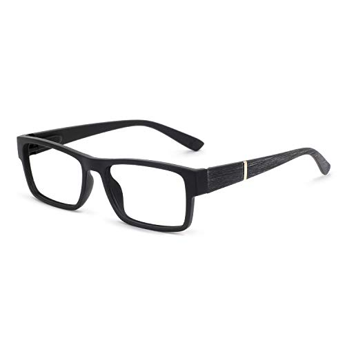 (OCCI CHIARI Reading Glasses for Men Acetate Fashion Rectangular lightweight(Black,+2.5))