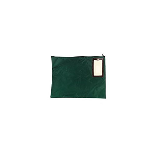 SteelMaster 2341814N02 Cash Transit Sack, Nylon, 18 x 14, Dark Green by STEELMASTER