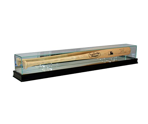Baseball Bat Display Case with Sport Moulding (Black with 99% UV)