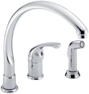 Delta Faucet 172 Wf Waterfall Single Handle Kitchen Faucet With Spray Chrome Touch On Kitchen Sink Faucets Amazon Com