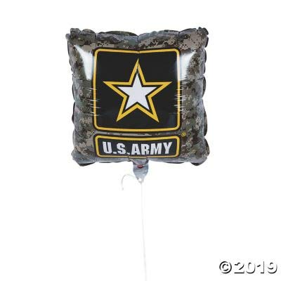 US ARMY CAMO LOGO MYLAR BALLOONS - Party Decor - 3 Pieces: Toys & Games