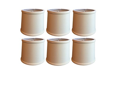 Upgradelights Eggshell Silk 6 Inch Tapered Drum Clip On Chandelier Lampshades (Set of six) 5x6x5 (Silk Drum Shade)