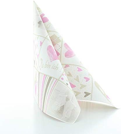 Vlag HORECA servet babyvan Linclass Airlaid 40 x 40 cmhoogwaardig wegwerpservet voor geboorte doop50 stuks