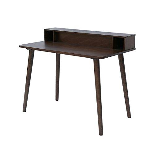 Great Deal Furniture 304645 Wesley Mid Century Wood Writing Desk in Medium Brown,