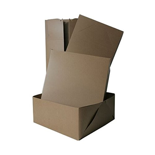 JAM PAPER Gift Box with Full Lid - 12 x12 x 5 1/2 - Kraft - Sold Individually (Jam Paper Gift Box)