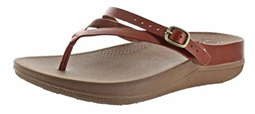 Flip Damen FitFlop Dark Sandalen Silber Leather Tan Peeptoe PzaTagq75