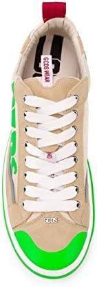 GCDS Luxury Fashion Uomo SS20M01000213 Verde Pelle Sneakers   Primavera-Estate 20