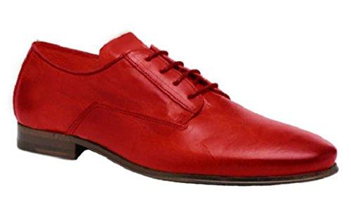 11sunshop Modello Classico Scarpe In Pelle Casanova Dal Design Hgilliane Eu 33-46 Rosso