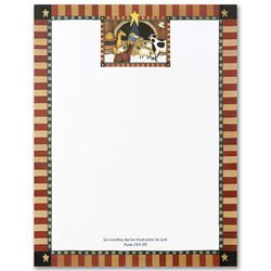 UPC 601952368042, Masterpiece Away In The Manger Stationery w/scripture - 8.5 x 11 - 100 Sheets