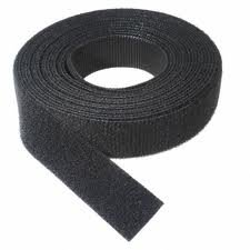 VELCRO 1804-OW-PB/B Black Nylon Onewrap Velcro Strap, Hook and Loop, 1'' Wide, 50' Length by Velcro