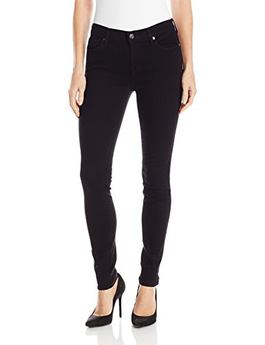7 For All Mankind Women's The Skinny Jean, Washed Overdyed Black, 29 by 7 For All Mankind