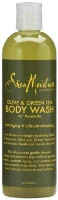 Shea Moisture Olive & Green Tea Body Wash, 13 Ounce