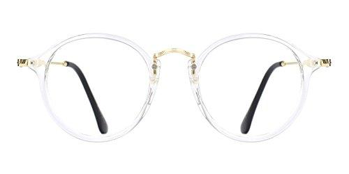 TIJN Vintage Round Non-Prescription Eyewear Eyeglasses or - Non Clubmaster Glasses Prescription