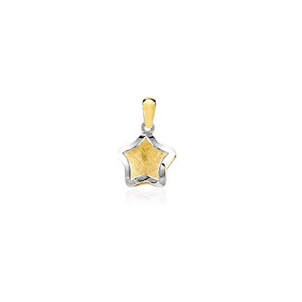 Colgante Oro Bicolor Estrella lisa con fondo matizado (9kts) Colgante Oro Bicolor Estrella lisa con fondo matizado (9kts) Colgante Oro Bicolor Estrella lisa con fondo matizado (9kts)