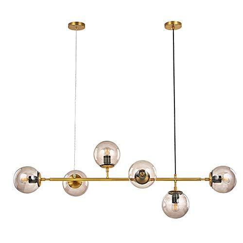 WZR Moderne Magic Bean Moleculen Kroonluchters,6 Lights,E27 Lamp Socket,Aanpassing Plafondlamp voor Keuken Island…