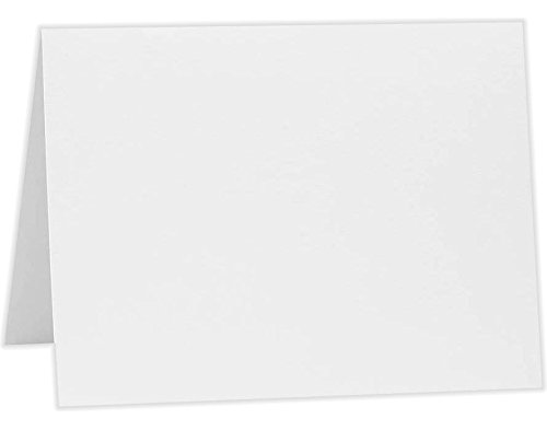 A1 Folded Notecards (3 1/2 x 4 7/8) - 70lb. Bright White (1000 Qty.) by Envelopes Store