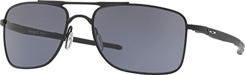 Oakley Men's Gauge 8 Rectangular Sunglasses, Matte Black, 57 - Frames Wire Oakley