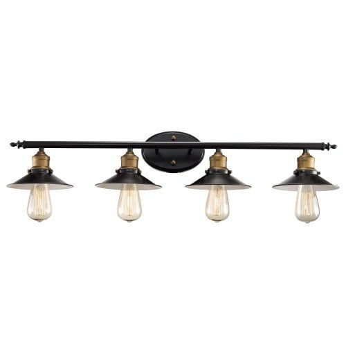 Trans Globe Lighting 20514 ROB Griswald Industrial Vanity Bar, 34'', Indoor Rubbed Oil Bronze