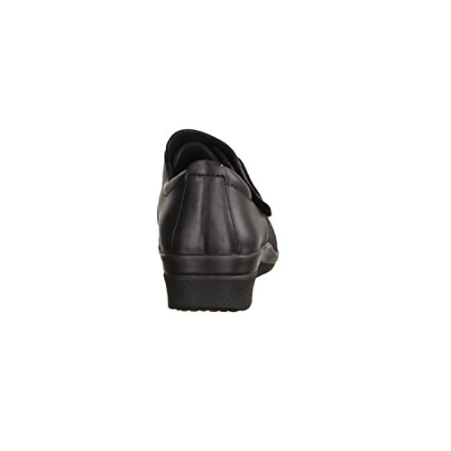 SLOWLIES 400–1003–chaussures de prophylaxie/diabétiques, noir, anilinleder/lycra noir