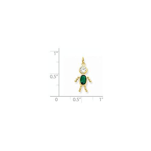 Buy jewelryweb 14k yellow gold may girl gemstone charm