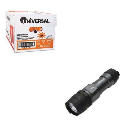 KITRAYDIY3AAABUNV21200 - Value Kit - Ray-o-vac Virtually Indestructible Flashlight (RAYDIY3AAAB) and Universal Copy Paper (UNV21200)