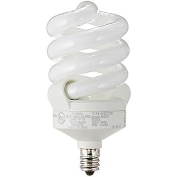 TCP CFL Spring Lamp, 60W Equivalent, Daylight (5000K), Candelabra Base Spiral Light Bulb