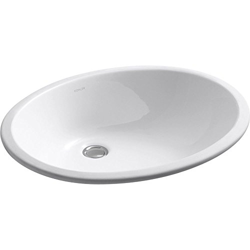 Kohler Caxton Undercounter Lavatory Sink (KOHLER K-2211-0 Caxton Undercounter Bathroom Sink, White)