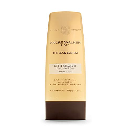 Andre Walker Hair Get It Straight Styling Crème, Official Gold System, 8.5 Fl Oz | Paraben, Sulfate Free, Safe for Colored Treated Hair, Ideal for Kinky, Curly Hair, Infused with African Mongongo Oil