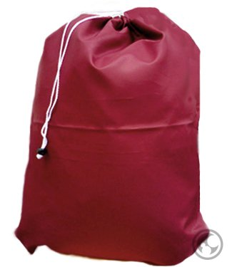 Laundry Bag with Drawstring and Locking Closure, Color: Burgundy, Small Size: 22x28
