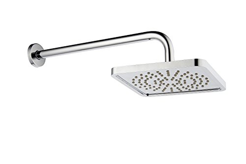 Purelux Rainfall Shower Head with Arm 8 inches Modern Style Square Shape Showerhead with 16