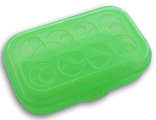 Neon Green Transparent Pencil Box Case with Circle Patterned Lid