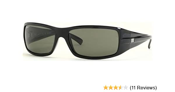 997c8af9310 Amazon.com  Ray Ban RB4057 Sunglasses - Glossy Black-Polarized w  Grey  Polarized 61mm  Ray-Ban  Sports   Outdoors
