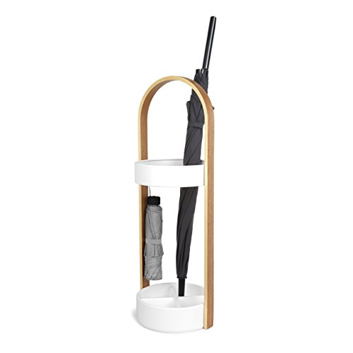 Umbra Hub Umbrella Stand, Space-Saving Umbrella Stand, Great for the Front Door/Entryway, White Natural by Umbra (Image #1)