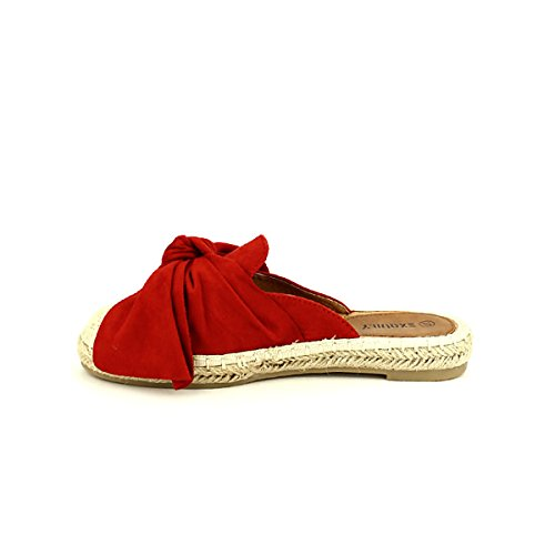 Exquily Rouge Chaussures Simili Peau Femme Mule Cendriyon FZqIwx6FU
