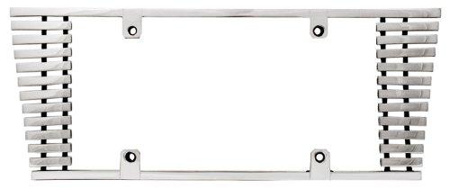IPCW CWL-821C 8mm Polished Aluminum Billet Sloped Edge License Plate Frame