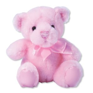 Teddy Bear - First and Main Teddy Bear Pal, Pink Pastel 6 inch/New Baby/Baby Shower/Baby Gift
