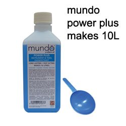 Disinfection Sterilizing Solution Mundo Power Plus 500ml Concentrated Makes 10 Litres Eyelash